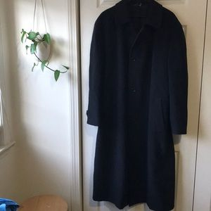 VTG Canali men's black wool dress coat
